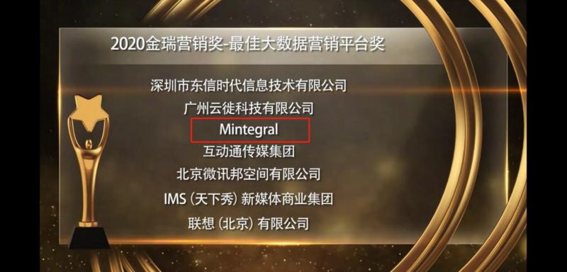 2020年金瑞营销奖-最佳大数据营销平台奖,Mintegral